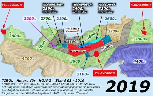 Luftraumstruktur Innsbruck